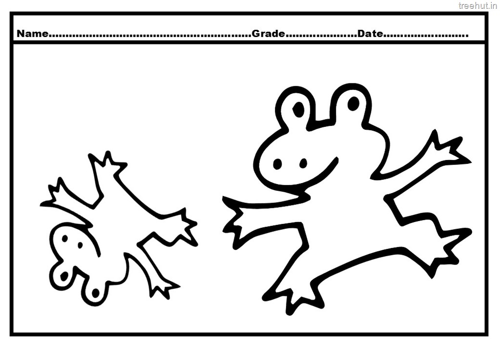 cute frog coloring pages - Jumping Frog Coloring Page