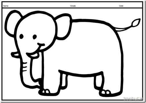 Cute baby Elephant PrintableColoring Pages (10)