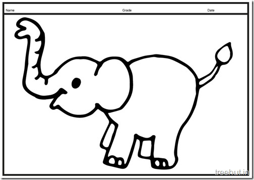 Cute baby Elephant PrintableColoring Pages (11)