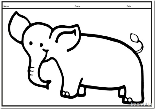 Cute baby Elephant PrintableColoring Pages (12)
