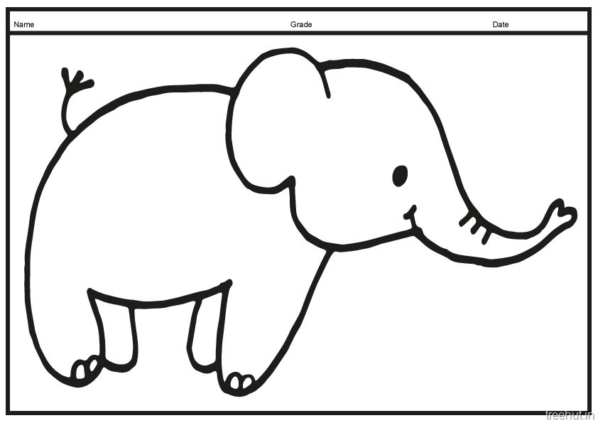 Cute baby elephant coloring pages for Cute elephant coloring pages