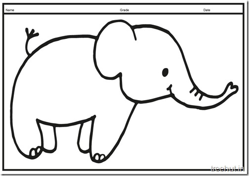 Cute baby Elephant PrintableColoring Pages (13)