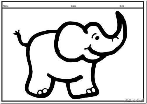 Cute baby Elephant PrintableColoring Pages (14)