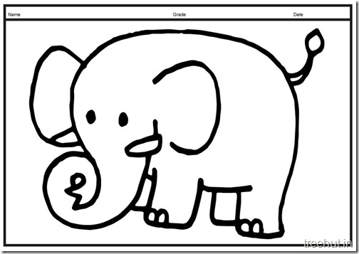Cute baby Elephant PrintableColoring Pages (15)