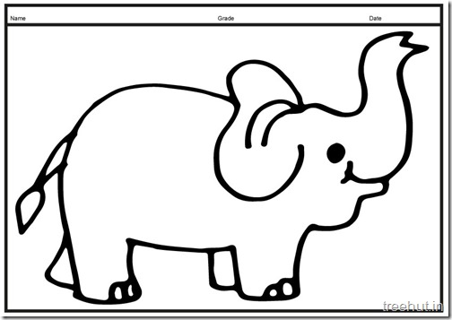 Cute baby Elephant PrintableColoring Pages (16)