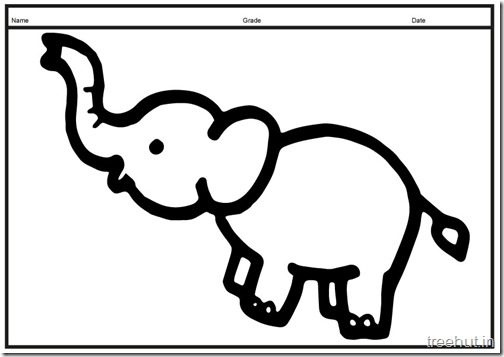 Cute baby Elephant PrintableColoring Pages (1)