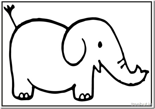 Cute baby Elephant PrintableColoring Pages (2)