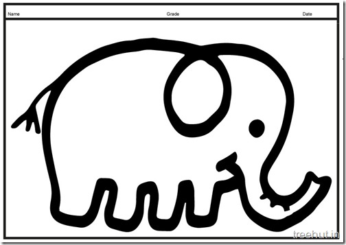 Cute baby Elephant PrintableColoring Pages (3)