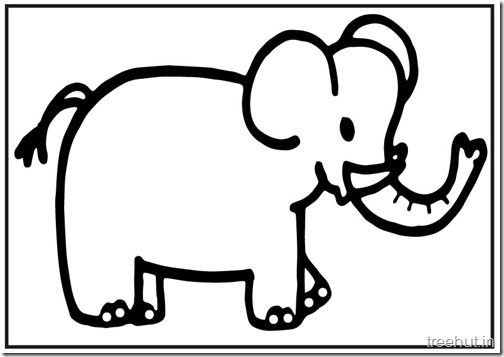 Cute baby Elephant PrintableColoring Pages (4)