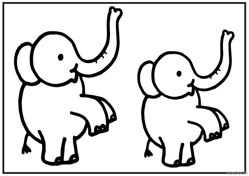 Cute Baby Elephant PrintableColoring Pages 5