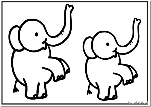 Cute baby Elephant PrintableColoring Pages (5)