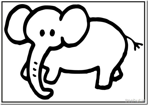 Cute baby Elephant PrintableColoring Pages (9)