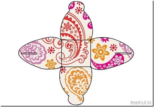Printable Diwali Gift Box No glue (6)