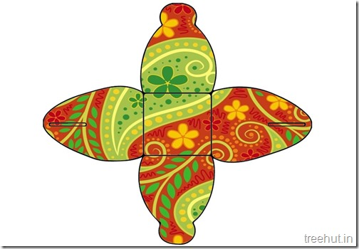 Printable Diwali Gift Box No glue (7)