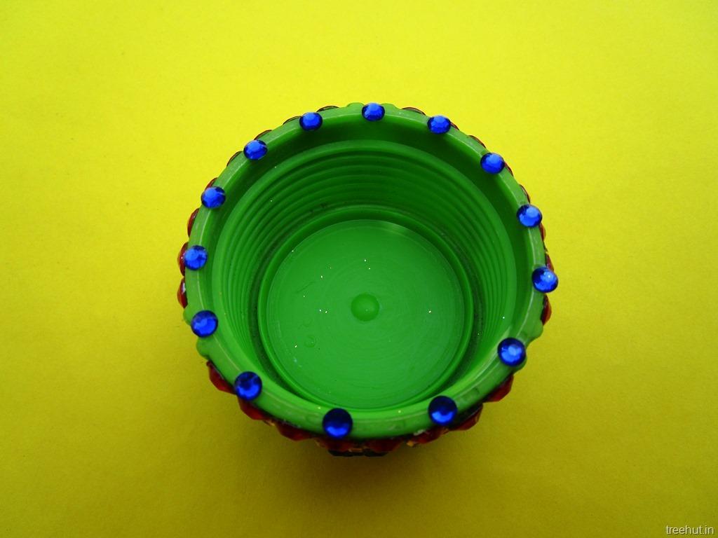 Easy Diwali Christmas Festival Bottle Cap Tea Light Holder Upcycle Craft Diy