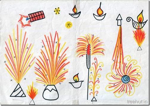 Diwali Christmas Festivals Fireworks Art (1)
