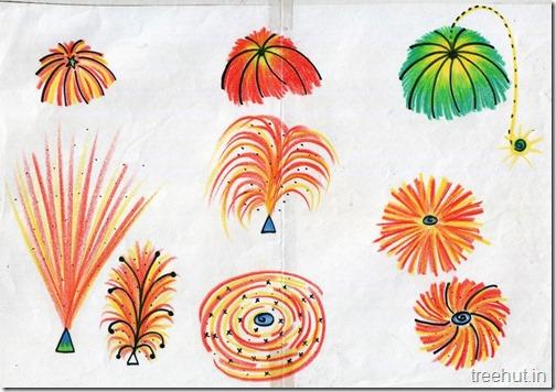 Diwali Christmas Festivals Fireworks Art (2)
