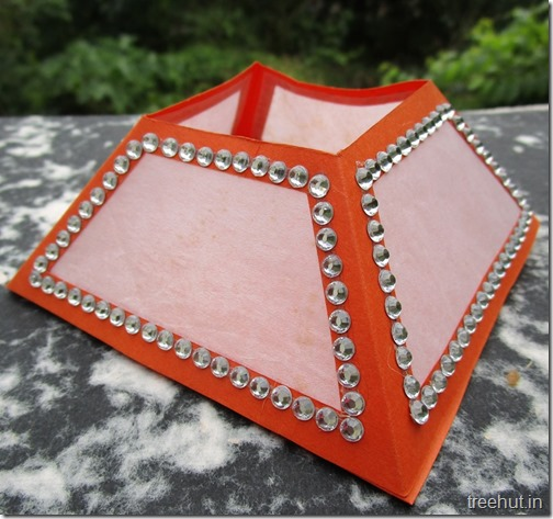 how to make diwali lantern with paper
