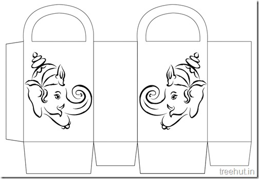 Diwali Gift Basket Bag DIY Craft for kids Printable Template (12)