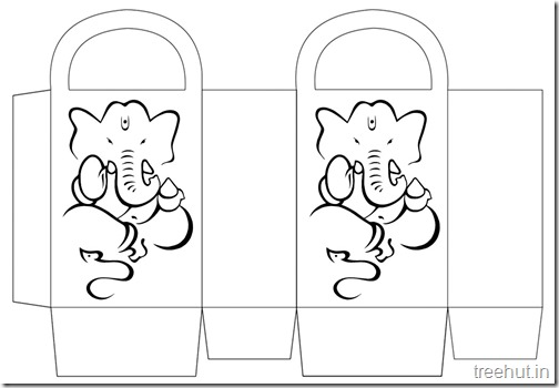 Diwali Gift Basket Bag DIY Craft for kids Printable Template (13)