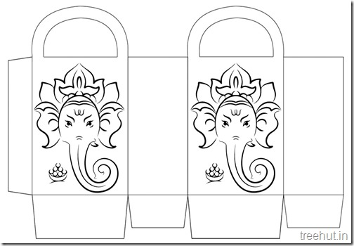 Diwali Gift Basket Bag DIY Craft for kids Printable Template (14)