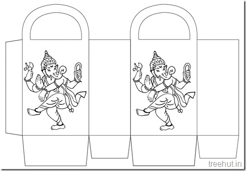 Diwali Gift Basket Bag DIY Craft for kids Printable Template (15)