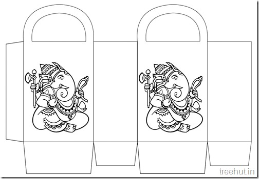 Diwali Gift Basket Bag DIY Craft for kids Printable Template (1)