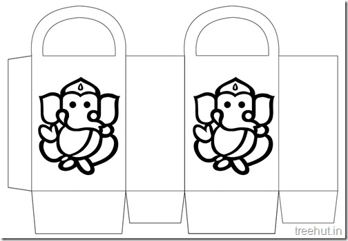 Diwali Gift Basket Bag DIY Craft for kids Printable Template (2)