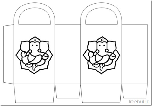 Diwali Gift Basket Bag DIY Craft for kids Printable Template (3)
