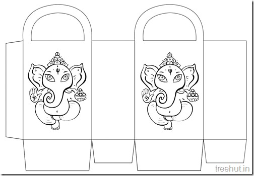 Diwali Gift Basket Bag DIY Craft for kids Printable Template (4)