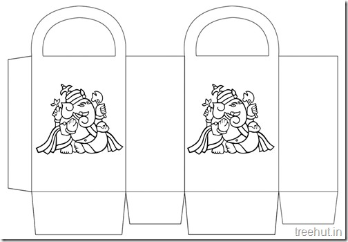 Diwali Gift Basket Bag DIY Craft for kids Printable Template (6)