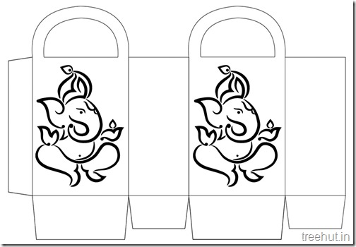 Diwali Gift Basket Bag DIY Craft for kids Printable Template (7)