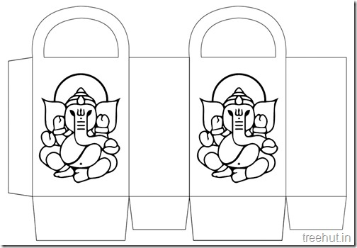 Diwali Gift Basket Bag DIY Craft for kids Printable Template (8)
