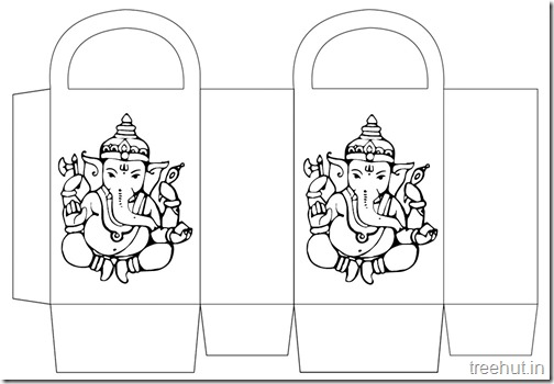 Diwali Gift Basket Bag DIY Craft for kids Printable Template (9)