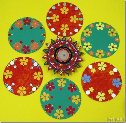 Easy Cd Rangoli Designs For Diwali