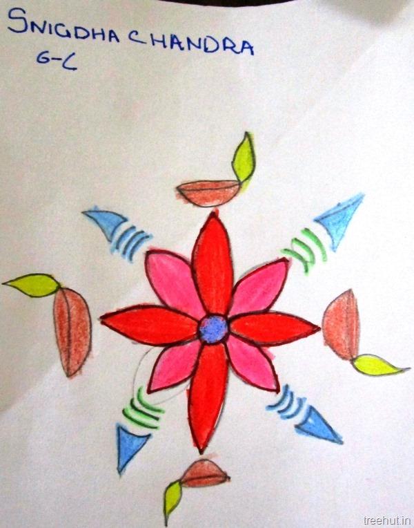Drawing for kids rangoli