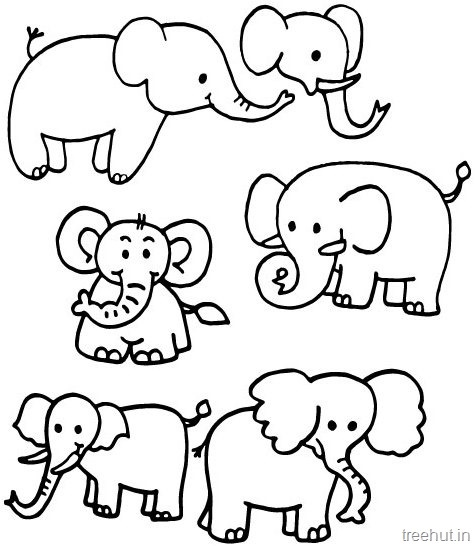 graphic regarding Printable Elephant referred to as Elephant Coloring Internet pages Printable