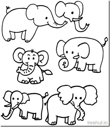 Printable Elephant Coloring Pages (1)
