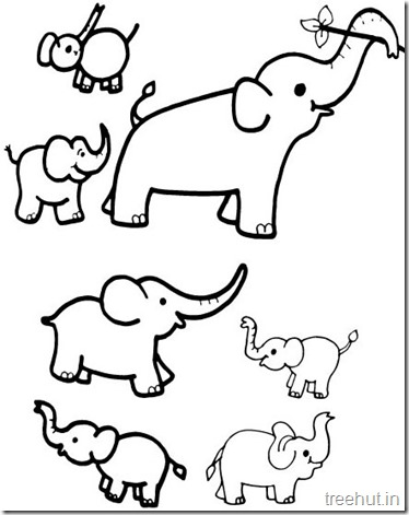 Printable Elephant Coloring Pages (2)