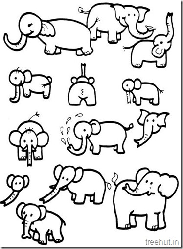Printable Elephant Coloring Pages (3)