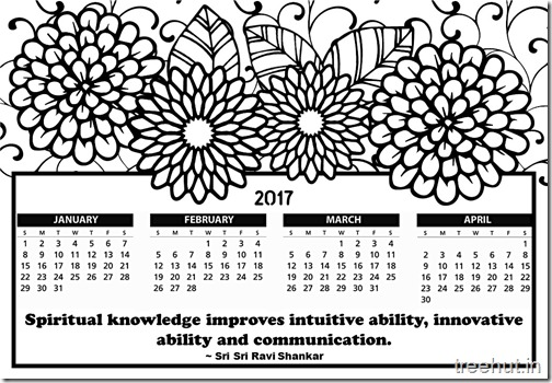Free Printable 2017 Calendar Coloring Page for Kids  (3)