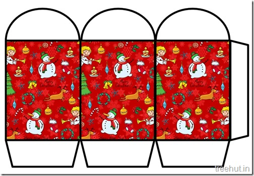 Free Christmas Colored Printable Paper Lantern (12)