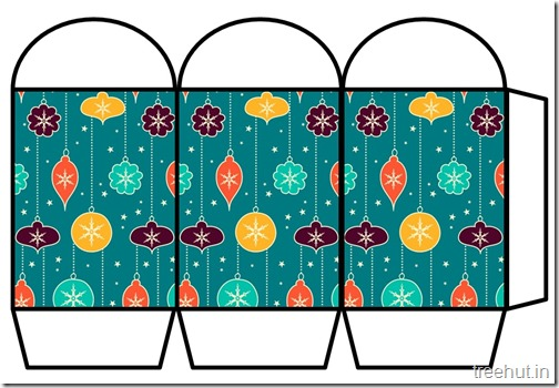 Free Christmas Colored Printable Paper Lantern (15)