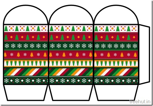 Free Christmas Colored Printable Paper Lantern (19)