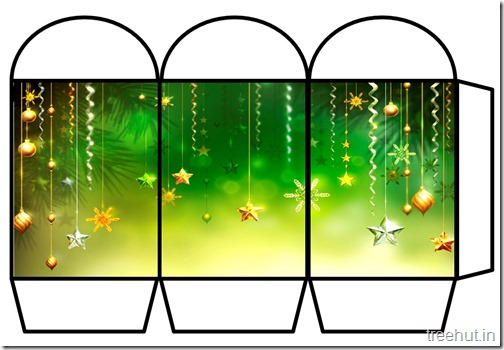 Free Christmas Colored Printable Paper Lantern (2)