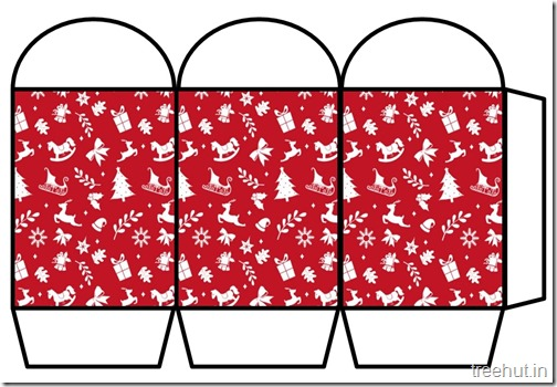 Free Christmas Colored Printable Paper Lantern (4)