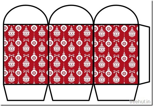 Free Christmas Colored Printable Paper Lantern (6)