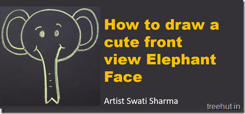 How to draw an elephant face video