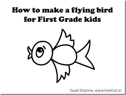 How to Draw a flying bird for 1st Grade kids Video