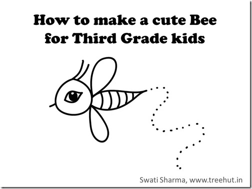 how to draw bee for grade 2